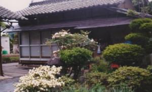 小林家が昭和22年―23年に住んだ柳沢毛佐造様宅の離れ (柳沢きよ子様提供)