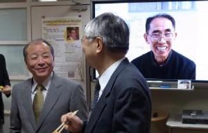 前田吉昭教授(慶応大学)と楠岡成雄教授(東京大学)
